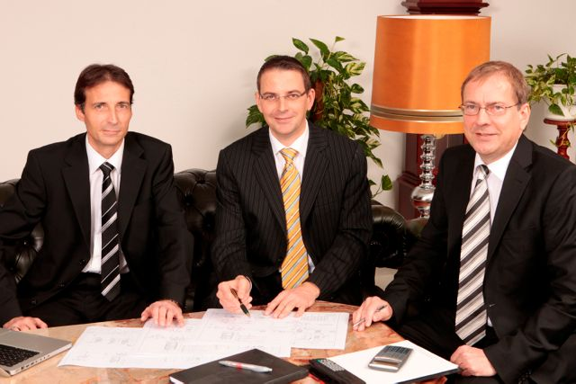 the company is run by the brothers, Bernhard, Herbert and Harald Fischer (from left to right)